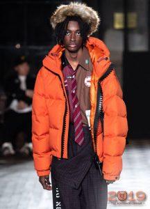 Оранжевые куртки мужская мода сезона осень-зима 2019-2020