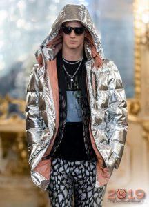 Серебристые мужские куртки сезона осень-зима 2019-2020