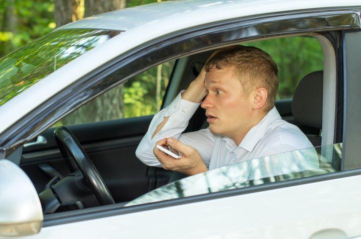 Огорченный водитель