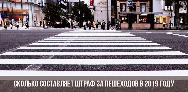Штраф за пешехода в 2019 году