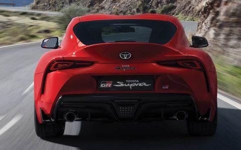 Задний бампер Toyota Supra 2019 год