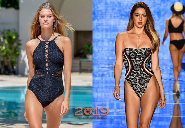 Модные кружевные купальники 2019 год