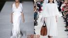 Модное летнее платье белого цвета 2019 года