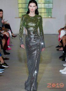 Блестящее платье 2019 года