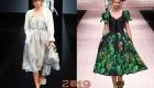 Модное платье французской длины весна-лето 2019 год