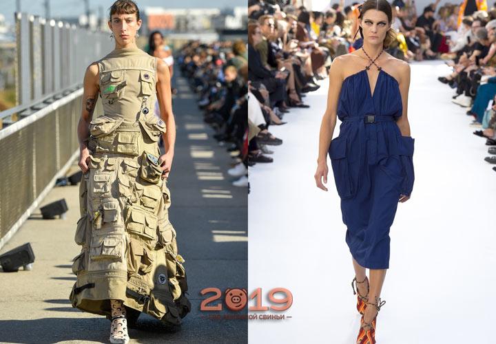 Модные платья 2019 года с карманами