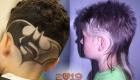 Мальчиковые стрижки с узорами на волосах