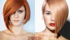 Асимметричная стрижа на рыжие волосы