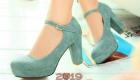 Модные мятные туфли весна 2019