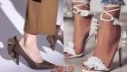 Складки и оборки на туфлях и босоножках мода 2019 года