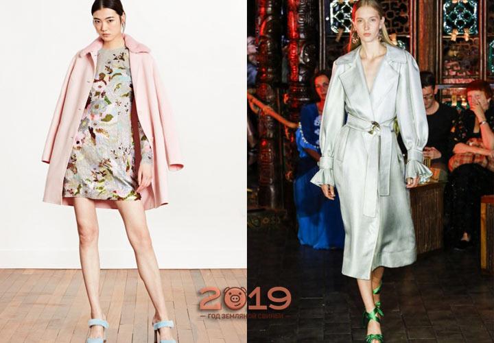 Пальто 2019 года - модные оттенки
