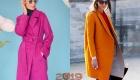 Яркие пальто на весну 2019 года