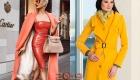 Коралловое или желтое  пальто на весну 2019 года