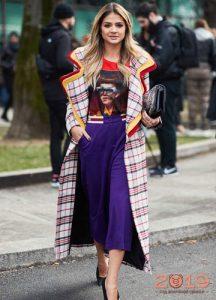 Клетчатое пальто - модный тернд 2019 года