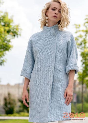 55eb7e7d9b8 Модное пальто с коротким рукавом на весну 2019 года