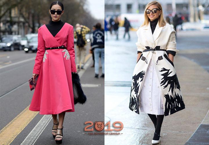 Пальто-платье мода весны 2019 года