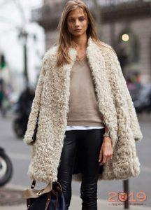 Короткое меховое пальто весна 2019