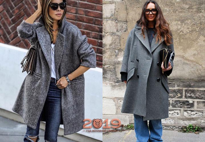 Пальто в стиле оверсайз мода весны 2019 года