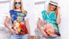 Модные футболки с принтами на лето 2019 года