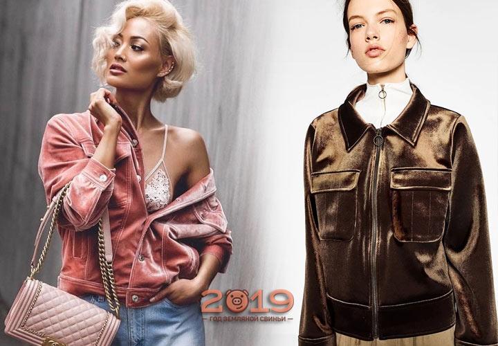 Модные бархатные куртки весна-лето 2019