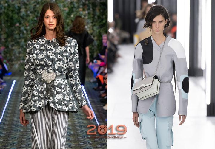 Куртка-пиджак мода весны 2019 года