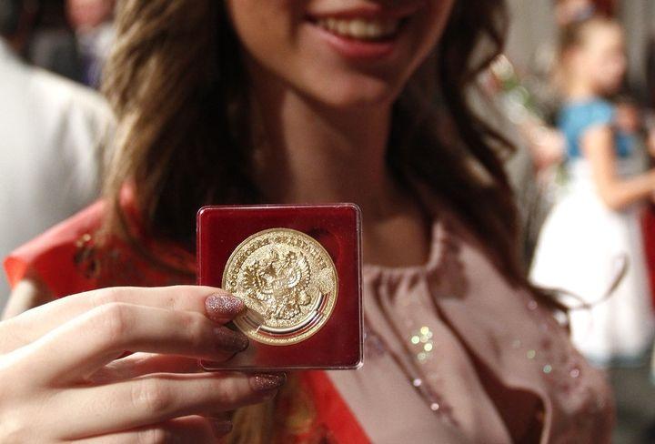 Школьница получила золотую медаль