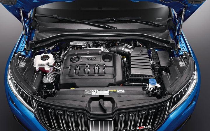 Двигатель нового Skoda Kodiaq RS 2019