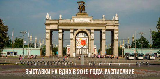 Выставки на ВДНХ в 2019 году
