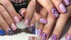 Модная роспись ногтей весна-лето 2019 цветы