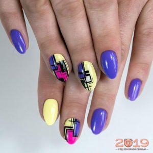 Модный дизайн ногтей лето 2019 геометрия