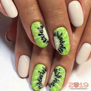 Модный дизайн ногтей 2019 киви