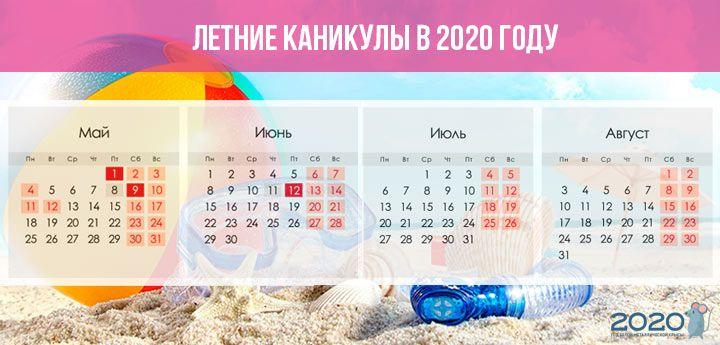 Ление каникулы для школ с семестровой системой обучения в 2019-2020 году