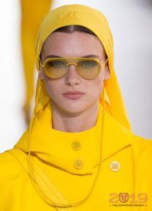 Модные желтые очки 2019 года