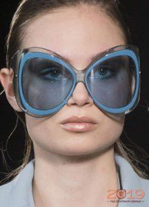 Очки с синими линзами мода 2019 года