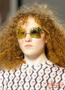 Желтые зеркальные очки мода 2019 года