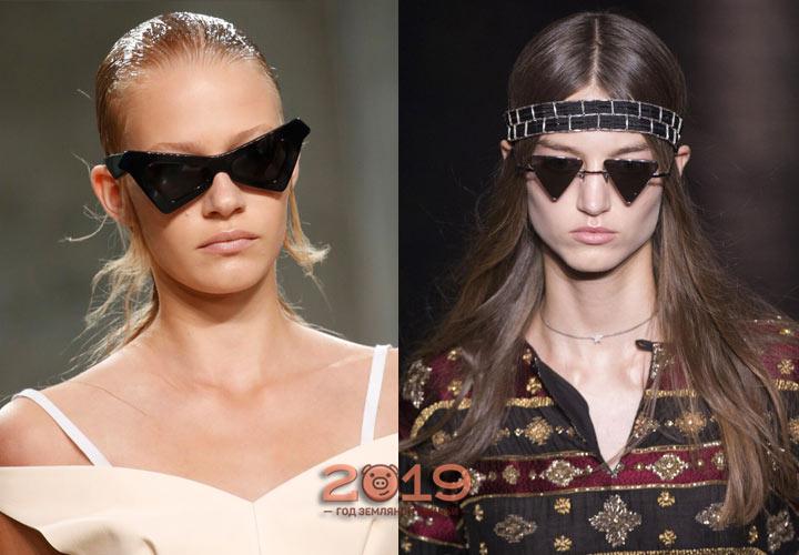Солнцезащитные очки треугольной формы на 2019 год