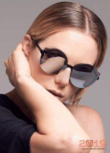 Стильные круглые очки с зеркальными линзами
