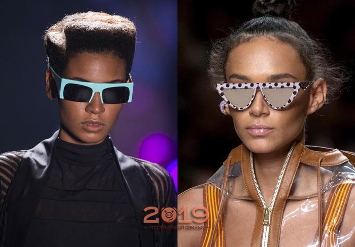 Модные очки со срезом на лето 2019 года