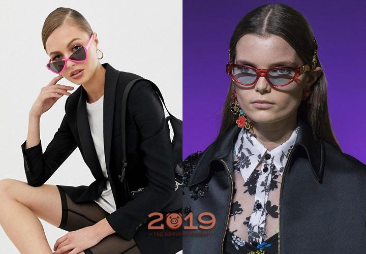 Модные очки с розовой оправой на 2019 год