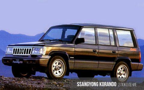 SsangYong Korando 2 поколение