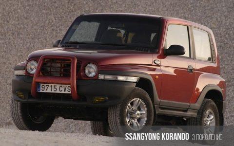 SsangYong Korando 3 поколение