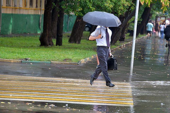 Дождь в Москве летом