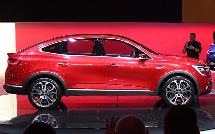 Габариты нового Renault Arkana 2019