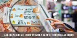 Кошельки Яндекс.Деньги и WebMoney запретят пополнять анонимно уже в 2019 году