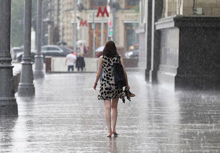 Дожди в августе в Москве