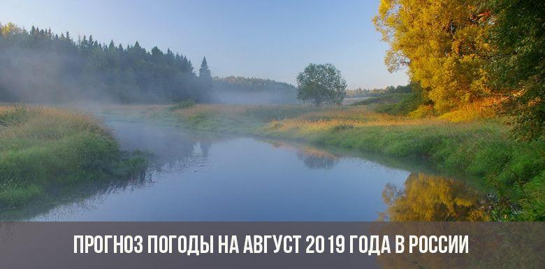 Погода в августе 2019 года в России