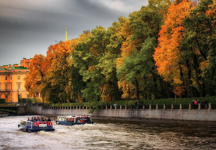 Осенняя погода в Санкт-Петербурге