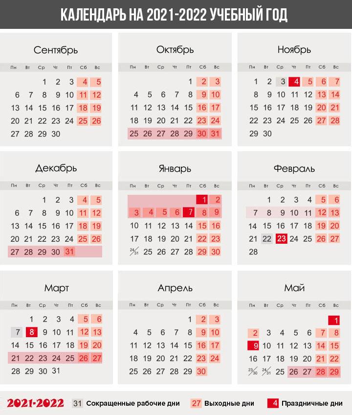 Календарь учителя для России на 2021-2022 учебный год
