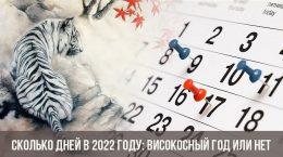 Сколько дней в 2022 году: високосный год или нет