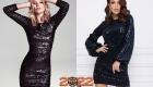 Черное новогоднее платье на 2022 год